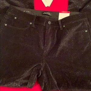 Talbots Slimming Ankle Black Corduroy Jeans